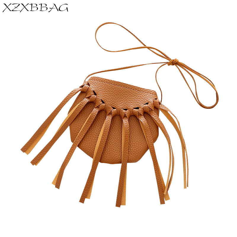 XZXBBAG Pouch Coin-Purse Messenger-Bags Crossbody-Case Tassels Children Fashion Mini