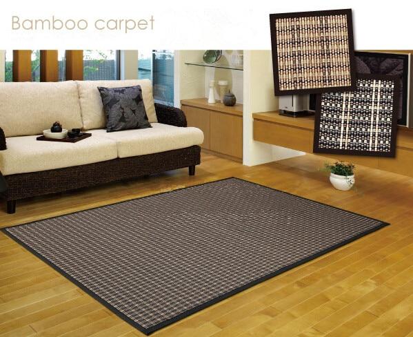 Tapis de sol japonais en bambou grande taille 180/230 cm matelas tapis Tatami Portable tapis Design Fiber Oriental tapis noir