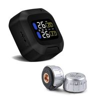 Wireless Tire Pressure Monitoring motorcycle tire motor Car tyre alarm Waterproof Tape 2 external sensors for two wheeled moto