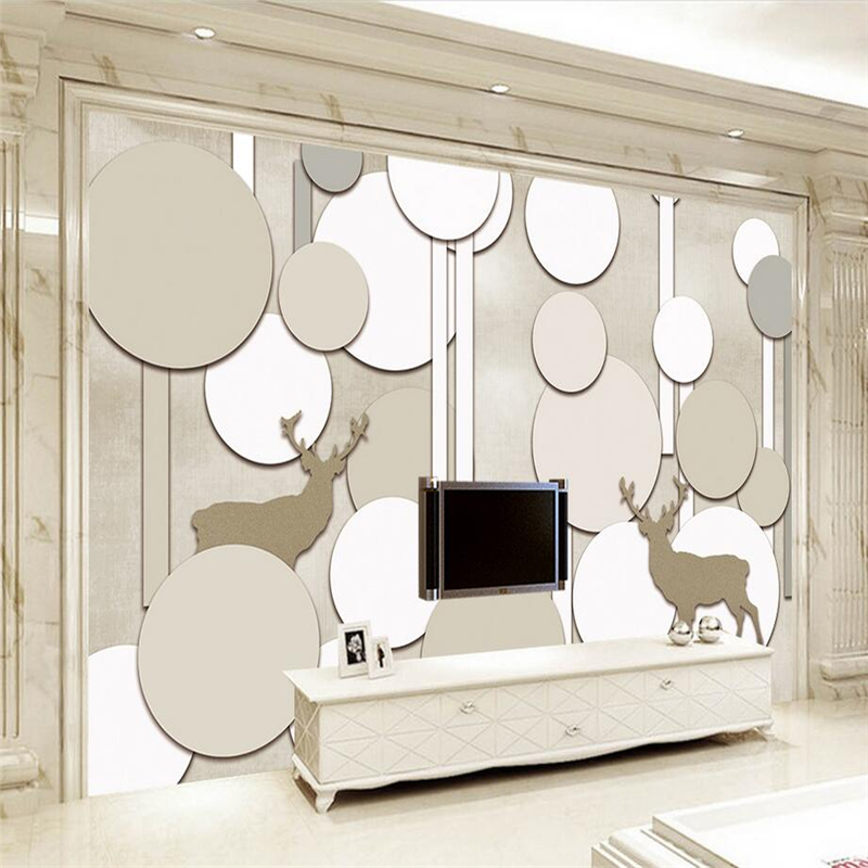 Custom Photo Wallpaper 3d Circle Sika Deer Wafer 3d Room Wallpaper Embossed Non-Woven Bedroom Wall Mural for Living Room Kitchen book knowledge power channel creative 3d large mural wallpaper 3d bedroom living room tv backdrop painting wallpaper