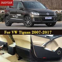 Car pads front rear door Seat Anti kick mat Car styling Accessories For VW Volkswagen Tiguan 2007 2008 2009 2010 2011 2016