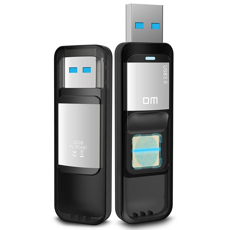 Huellas dactilares de seguridad encriptada USB3.0 flash drive PD061 32 GB 64 GB de alta velocidad reconocimiento USB Stick