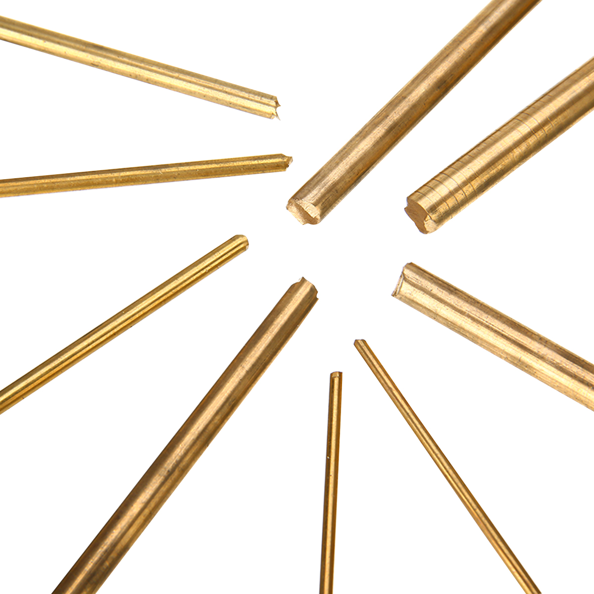 15pcs Brass Rod Bar Durable Round Connecting Rod Watchmaker Lathe DIY Watch Making Tool Craft Parts 100mm Length aftermarket tool 241008 or 241 008 connecting rod ultra max ii 695