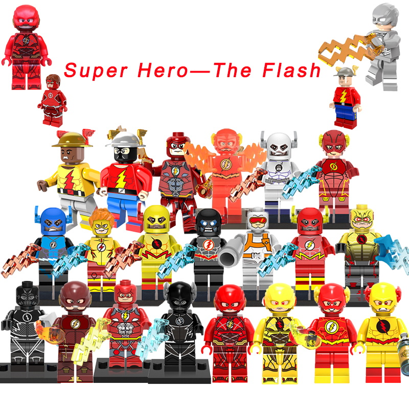 The Flash/Reverse Flash Super Heroes Justice League&Electricity Batman Movie DIY figure Building Blocks Toys For Kids single sale mighty micros robin bane ultron batman super heroes justice league minifig model building blocks kids toys