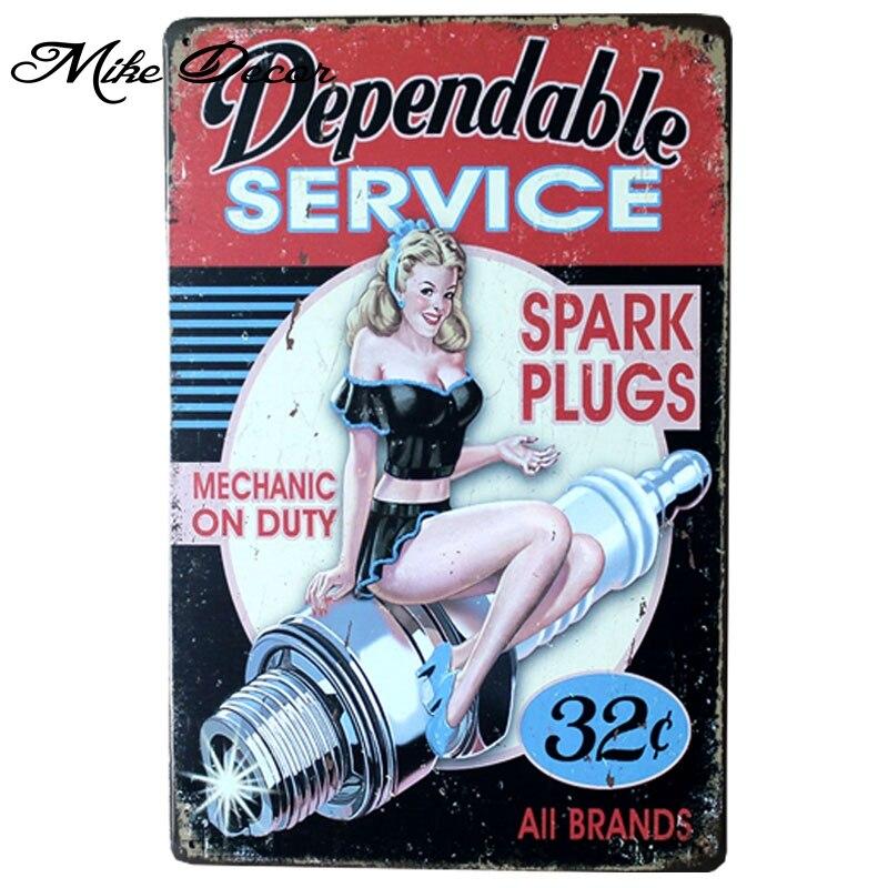 [ Mike86 ] Depandable Service Retro Poster ART Metal Craft Retro Home Pub Metal Plaque Decoration AA-293 Mix order 20*30 CM