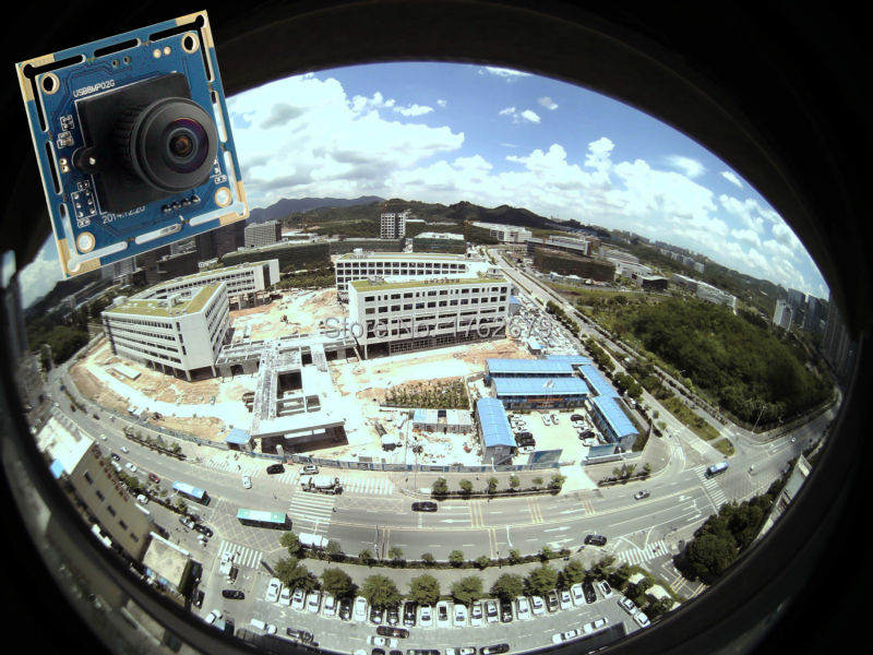 8MP USB video surveillance cameras module 3264X2448 Mjpeg YuY2 180 degree fisheye lens 1/3.2'' Sony IMX179 CCTV camera board стоимость