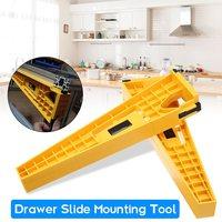 2Pcs Drawer Slide Jig Mounting Bracket Box Cabinet Hardware Install Guide Tool for Cabinet Hardware Jig & Concealed Hinge Jig