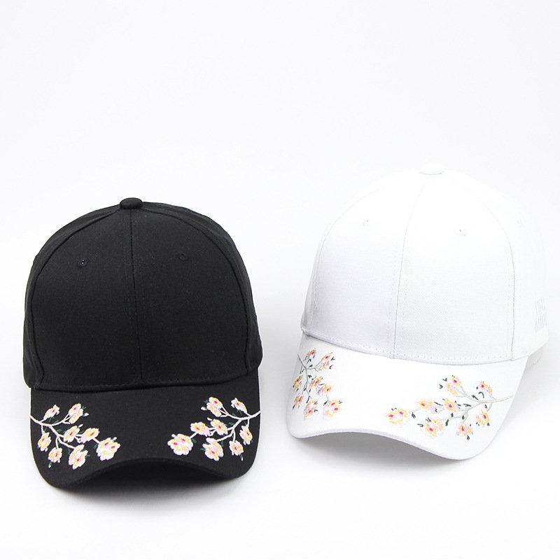 2018 Plum print cotton Casquette Baseball Cap Adjustable Snapback Hats for men and women 158