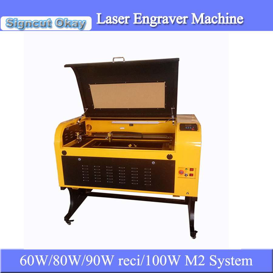 JIN ZHI YIN CO2 Laser Engraving Cutting Machine Wooden Laser Engraver Machine TS6090 9060 For Nonmetal Materials