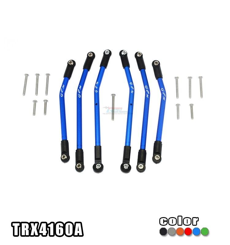 ALLOY ADJUSTABLE UPPER LOWER SUSPENSION LINKS SET TRX4160A FOR TRX 4 82056 4 DEFENDER TRAIL CRAWLER
