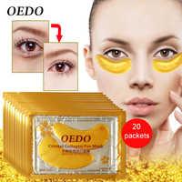 40pcs=20packsGold Eye Mask Golden Crystal Collagen Eye Mask Anti-Dark Circle Moisturizing Anti-Aging Hyaluronic Acid Eye Patch