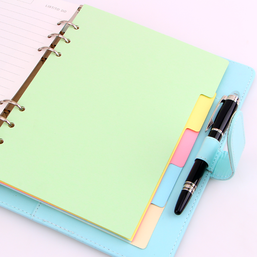 A5 A6 A7 Solid Color Page 6 Holes Inside Pages Planner Papers Cute Notebook Matching Stationery
