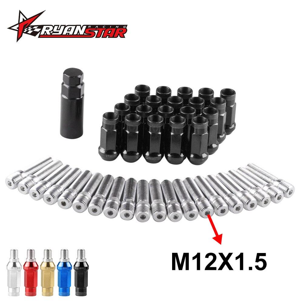 20 Pc Set Spline Open End Lug NutsRed12x1.5Dodge Ford T-Bird Focus