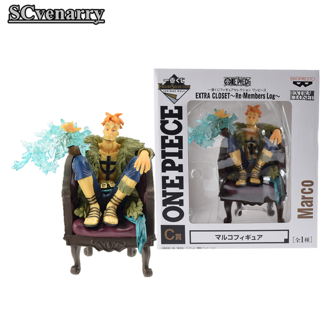 Anime One Piece Marco One Piece Extra Closet By Ichiban Kuji PVC Colloction  Figure