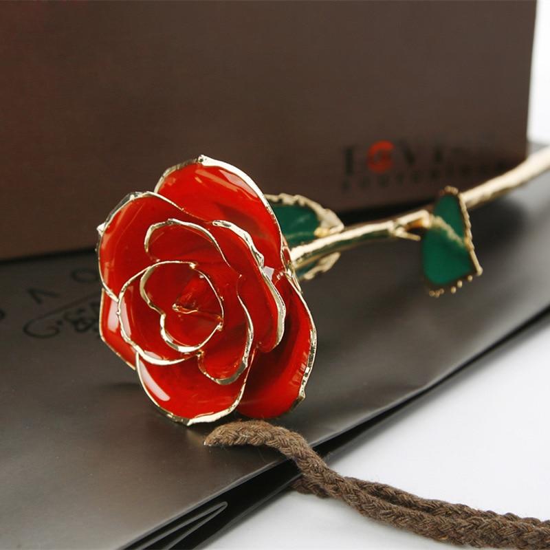 24 К золотая роза купить в Китае