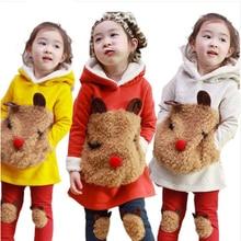 V-TREE NEW autumn winter baby girls clothing sets lamb cashmere coat leggings kids clothes sets children conjuntos clothing