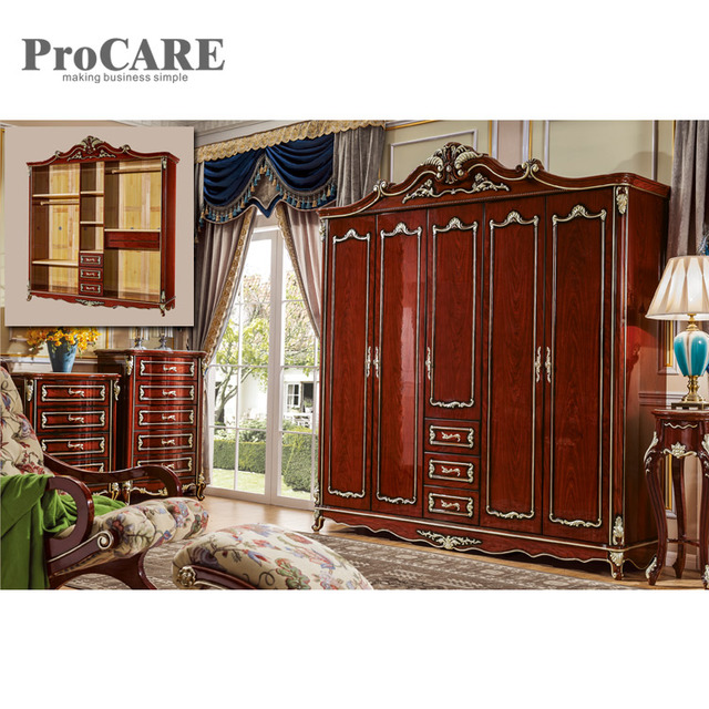 Project Modern Design Style Mdf Bedroom Furniture Wardrobe With Drawers 6005