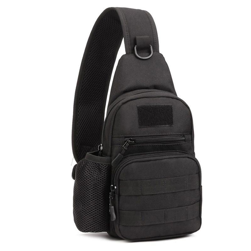 Men Waterproof 1000D Nylon Sling Pack Chest Bag Water Bottle Shoulder Messenger Pouch Motorcycle Military Travel Riding Bags