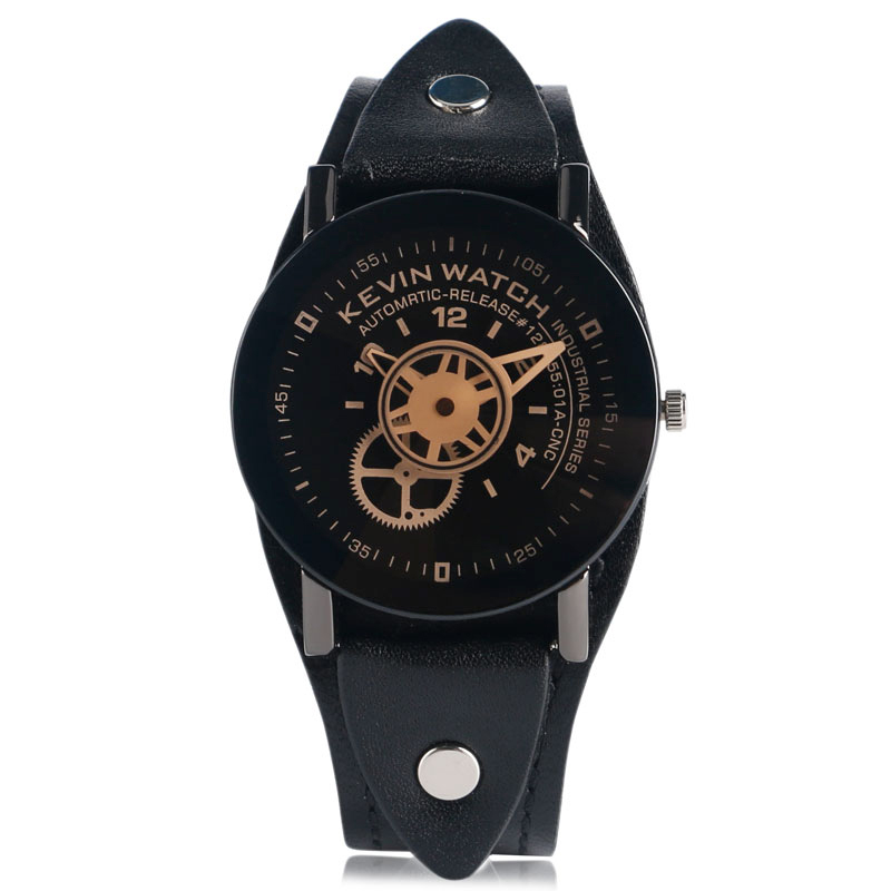 New Arrival Woman Men Fashion Watches 2017 Simple Cool Punk Rock Style Mlae Female Clock Casual Wheel Gear Classic Wristwatch leather men women watches fresh new style woman wristwatch