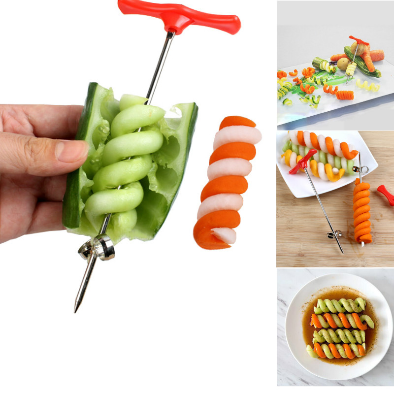 Baby Grinding Food Supplement Baby Food Maker Vegetable Spiral Cutter Food Decoration Kids Lunch DIY Maker Mould Kitchen Tools