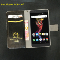 TOP New Alcatel POP 4 6 Case 5 Colors Flip Luxury Leather Case Exclusive Phone Cover