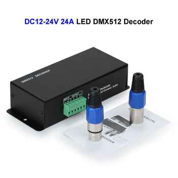 30pcs DC12V 24V 24A LED DMX512 Controller Decoder DMX For SMD 3528 5050 5730 RGB LED Strip Rigid Module
