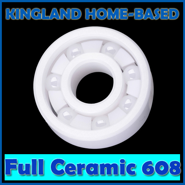 1pc ZrO2 Full Ceramic Bearing 608 Zirconia Oxide Ceramic Ball Bearing 8mm*22mm*7mm 608 sealed full ceramic bearing zro2 ball bearing 8x22x7mm zirconia oxide white l70602 drop ship