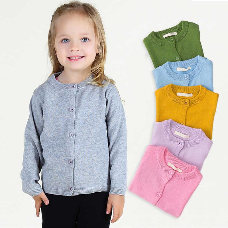 Cárdigan de punto de manga larga para niños y niñas, ropa de uniforme escolar tejida para bebés y niños