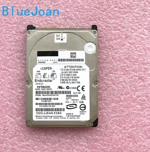 Free shipping BESTNAVY HDD Hard disk drive HEJ423030F9AT00 30GB for car HDD Navigation audio systems