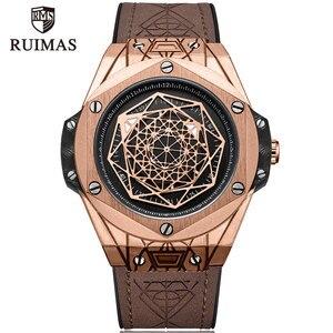 RUIMAS Men's Leather Quartz Watches Top