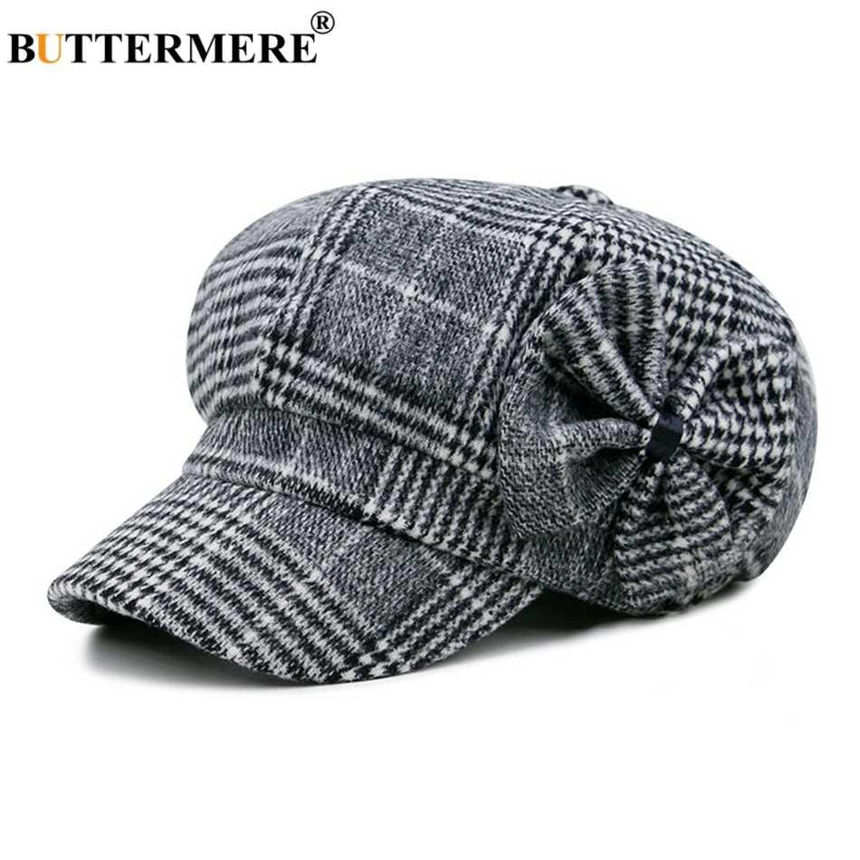 Шляпа Buttermere для мальчика Женская кепка газетчика лук твид Англия Стильный берет Женская шляпа елочка Весна малярные шляпы и шапки