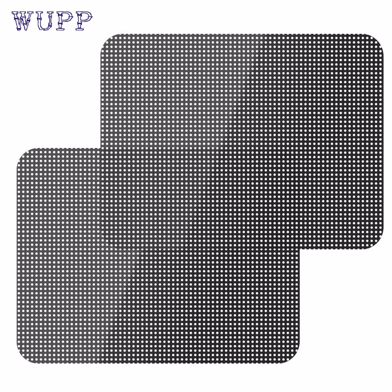 wupp Top Quality car tinting auto curtain 2Pcs Car Rear Side Window Sun Shade Cover Block Static Cling Visor Shield Screen
