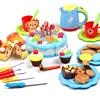 Play House Cutting Birthday Cake Kitchen Toys Pretend Play Food Model Classic Miniature Kitchen Plastic Tea