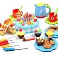 Play house corte do bolo de aniversário de cozinha modelo classic toys pretend play comida em miniatura de plástico de cozinha jogo de chá presentes das crianças