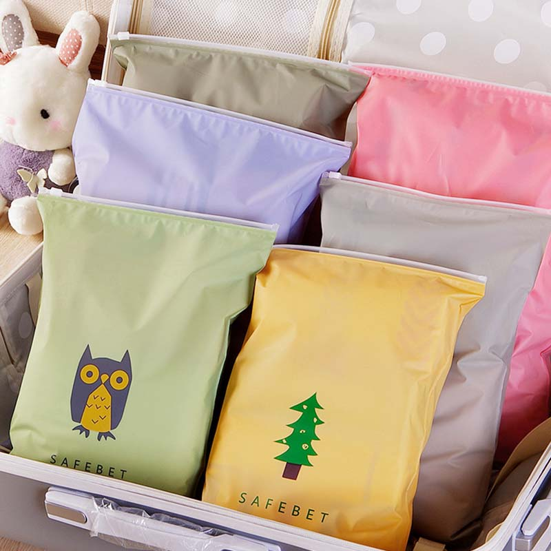 Sale 1PC Cute cartoon brigle pull-edge bag file items Storage bundled brim waterproof zipper bag ...