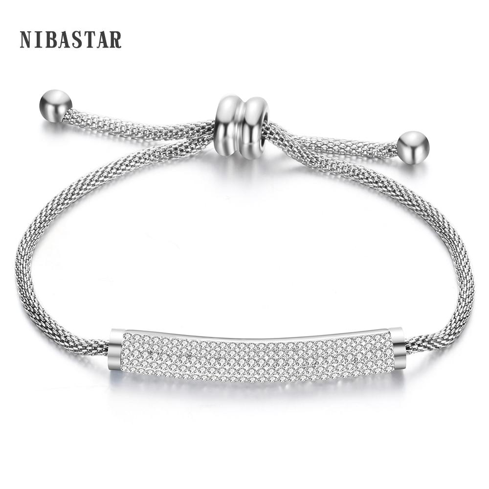 2016 врућа распродаја Цристал Цхарм наруквице и наруквице од нехрђајућег челика Кристални накит за жене Пулсерас
