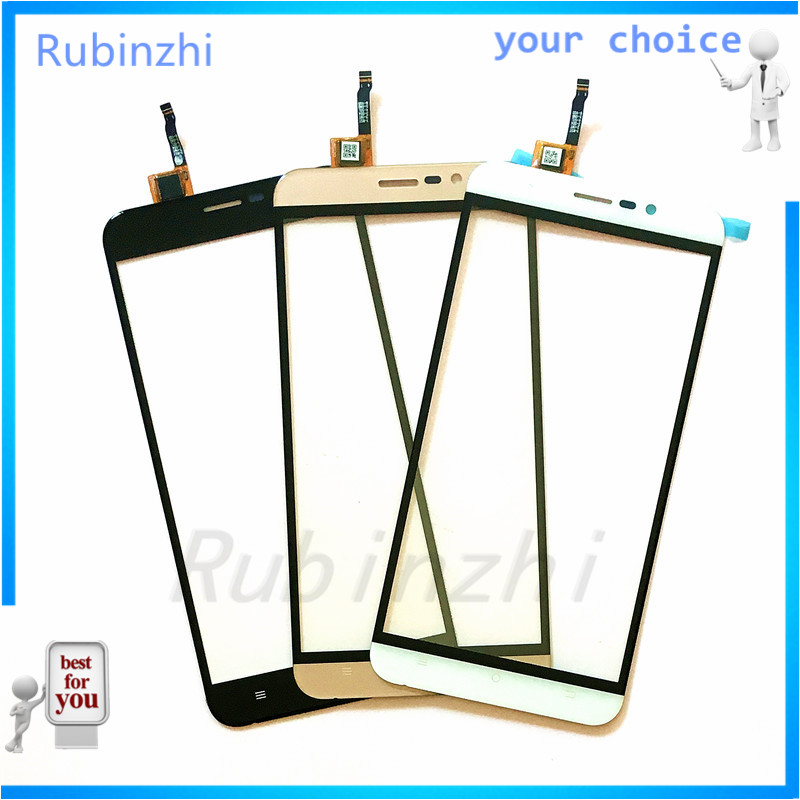 RUBINZHI Phone Touch Panel For Cubot Dinosaur Touch Screen Digitizer Sensor Ftont Glass Touchscreen Replacement with Tape