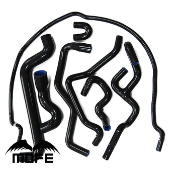MOFE Original Logo 8 sztuk silikonowy wąż chłodnicy dla Saab 9-5 1999-2001 czarny