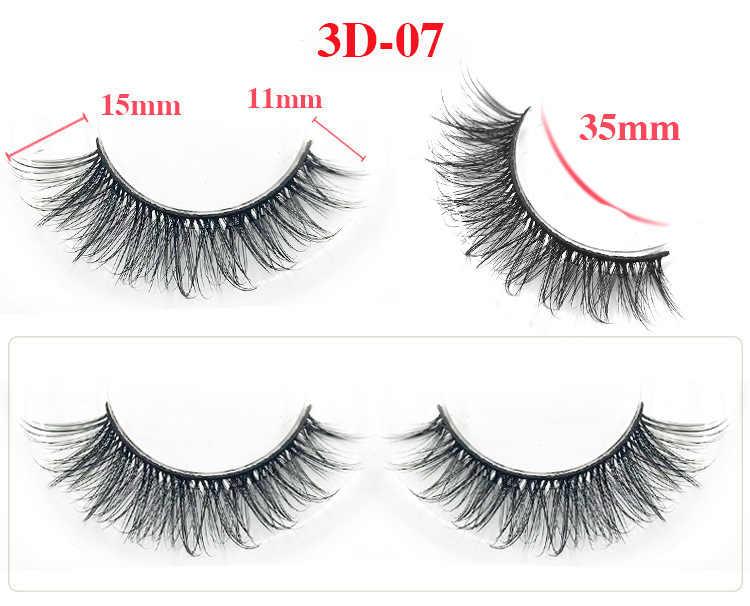 b7c3277cd30 ... Mangodot 3D Silk Eyelashes Hand Made Natural Long Faux Mink Lashes  Vegan Cruelty Free False Lashes ...