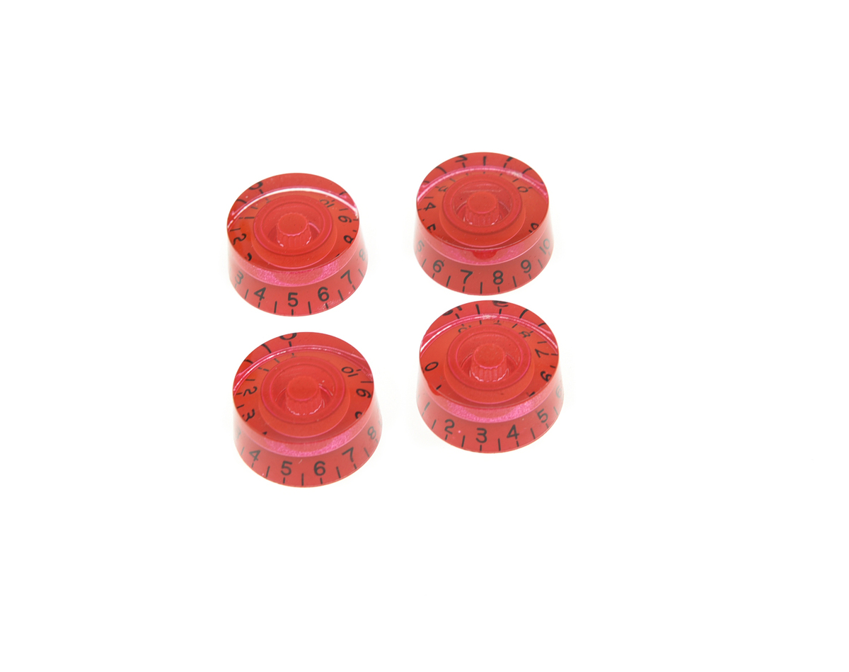 set of 4 lp guitar speed knobs control knobs red in guitar parts accessories from sports. Black Bedroom Furniture Sets. Home Design Ideas