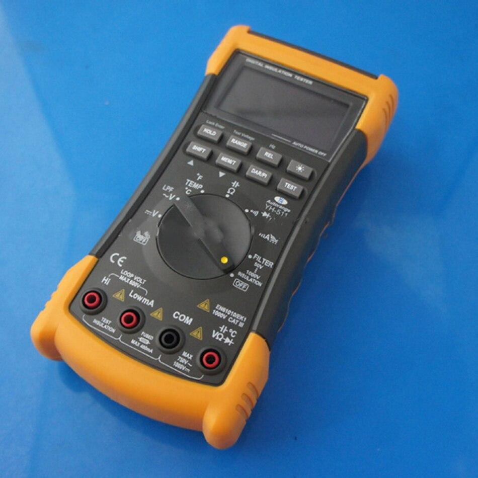 Yh511 Портативный Мегаомметр Цифровой Сопротивление изоляции тестер