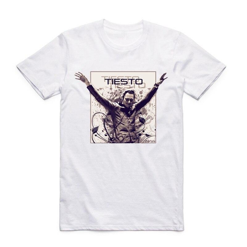 Dj Tiesto Men Women Fashion T-shirts Men Casual Streetwear Clothes Summer Cool O Neck Short Sleeve White T Shirt Size XXXL