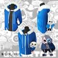 Sans undertale casaco azul cosplay traje jaqueta moletom com capuz top