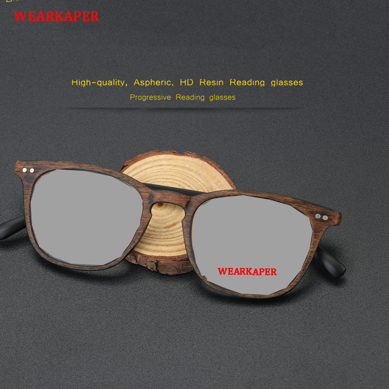 e8b043f3c81 Detail Feedback Questions about WEARKAPER Wood Retro Sunglasses Transition  Photochromic Reading Glasses Men women Hyperopia Presbyopia diopters  Presbyopia ...