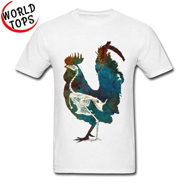 e2b340292 Buy Shirt Rooster Construction Skeleton T-Shirt Printing Creative Design  New Style Fashion Tee Shirt Cotton Crew Neck Tshirt Men
