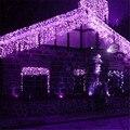 1X Navidad Luces de Inclinación 0.4-0.6 m Longitud 5 M Cortina de la Secuencia del Carámbano Luces Led AC220V Al Aire Libre Nuevo año de Jardín de Navidad de La Boda
