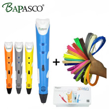 BAPASCO RP100A 3D Pen+100 Meter(20 Color) ABS Filaments EU/UK/AU/US Plug Intelligence Drawing 3d printer pen Best Gift for Kids