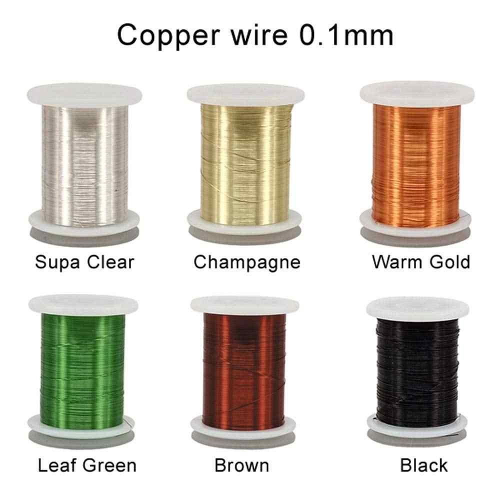 Riverruns 6 Renk Seti Olmayan tarnishing Ultra Bakır Tel 0.1mm, 0.2mm Süper Gerçekçi Fly Bağlama Malzemesi Gururla Avrupa Büyük