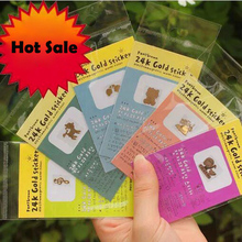 10pcs Hot Sale 3D Cartoon Anti Radiation Cell Phone Tablet Sticker 24k Gold Plated Radiation Protection Accessories Film Dec29