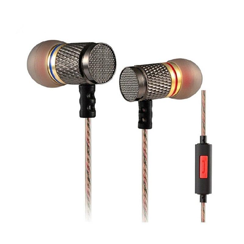 KZ ED2 auriculares estéreo auricular profesional micrófono de gama alta Cancelación de ruido música con cable Sport Auriculares auriculares